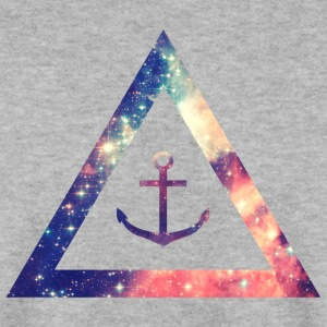 Galaxy / universe / hipster triangle with anchor Sweat-shirts - Sweat-shirt Homme