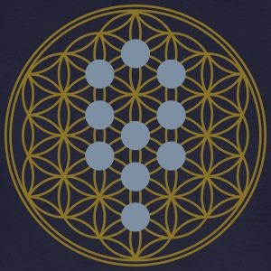 Flower of Life with 10 Sephiroth, Kabbalah, 2c T-shirts - Organic mænd