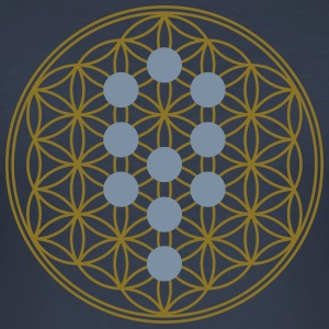Flower of Life with 10 Sephiroth, Kabbalah, 2c T-shirts - Herre Slim Fit T-Shirt