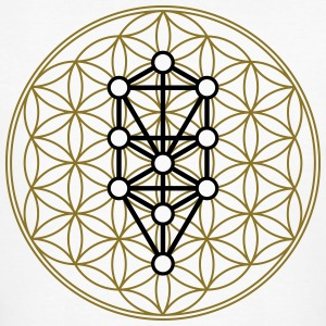 Flower of Life with 10 Sephiroth, Kabbalah, 2c T-Shirts - Men's Organic T-shirt