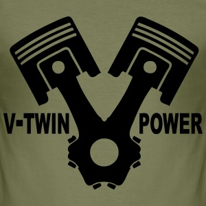 v-twin power vector design 02 T-Shirts - Men's Slim Fit T-Shirt