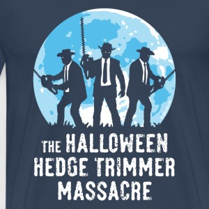The Halloween Hedge Trimmer Massacre (PNG) T-Shirts - Men's Premium T-Shirt