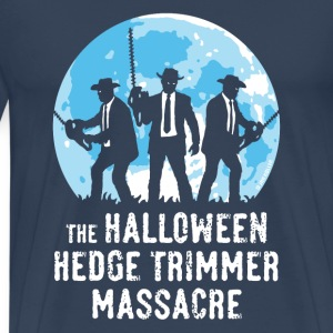 Azúl navy The Halloween Hedge Trimmer Massacre Camisetas - Camiseta premium hombre