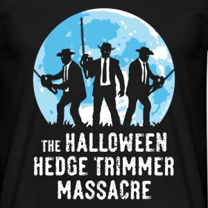 The Halloween Hedge Trimmer Massacre (PNG) T-Shirts - Männer T-Shirt