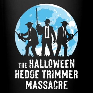 Noir The Halloween Hedge Trimmer Massacre Bouteilles et tasses - Tasse en couleur