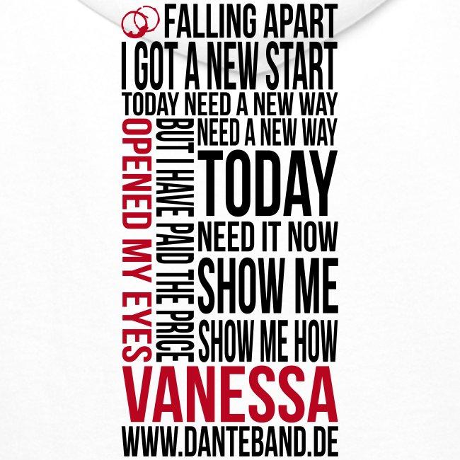 DANTE Men Hoodie Vanessa Lyric white - red / black