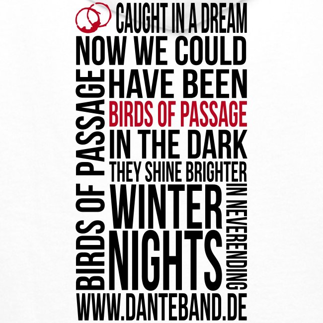 DANTE Men Hoodie Birds of Passage Lyric white - red / grey