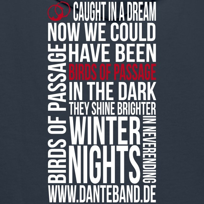 DANTE Men Hoodie Birds of Passage Lyric navy- red / white