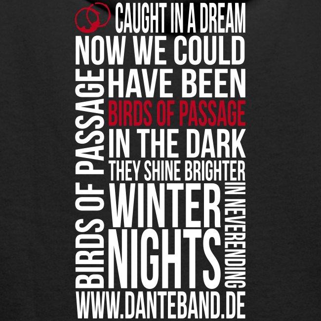 DANTE Men Hoodie Birds of Passage Lyric black- red / white