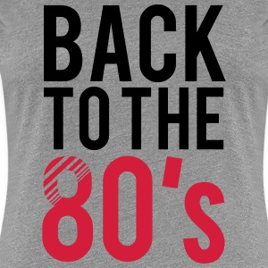 Back to the 80s Logo T-Shirts - Frauen Premium T-Shirt