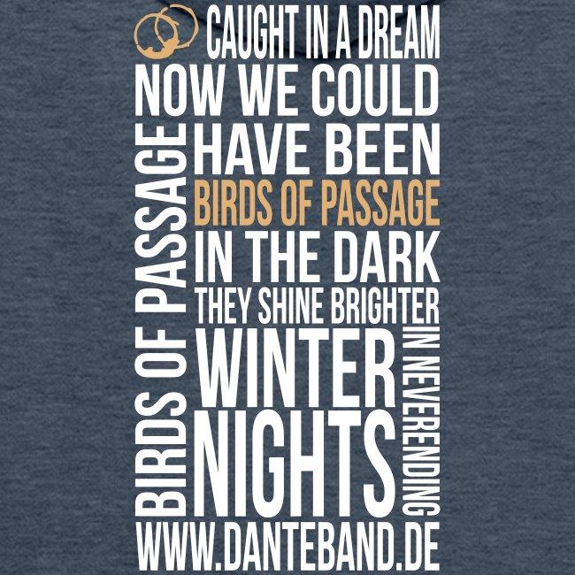 DANTE Men Hoodie Birds of Passage Lyric brown - sand / white