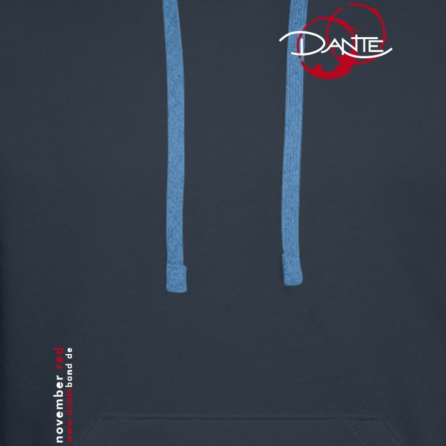DANTE  Men Hoodie Vanessa Lyric navy- red / white