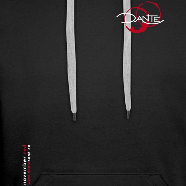 DANTE BUDGET - Men Hoodie black- red / white