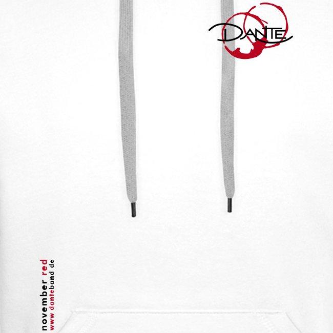 DANTE BUDGET - Men Hoodie white- red / black