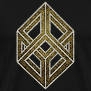 Optical illusion, cube, geometry, mathematics T-Shirts - Men's Premium T-Shirt