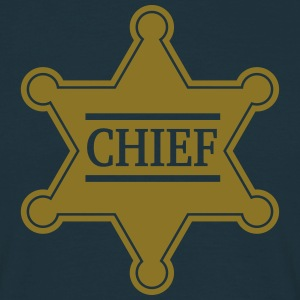 Chief Sheriff Star, Wild West America, Chef, Boss Camisetas - Camiseta hombre