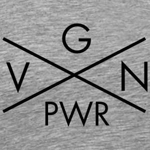 VGN PWR - Vegan Power Cross T-Shirts - Men's Premium T-Shirt
