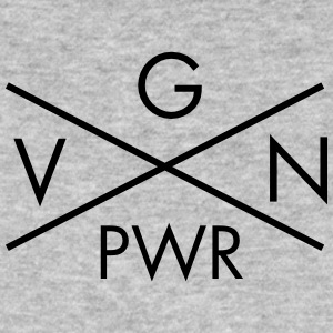 VGN PWR - Vegan Power Cross Camisetas - Camiseta ecológica hombre