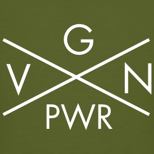 VGN PWR - Vegan Power Cross Tee shirts - T-shirt bio Homme