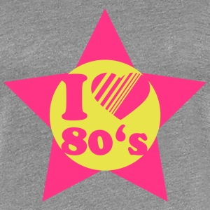 I Love 80s Star T-Shirts - Women's Premium T-Shirt