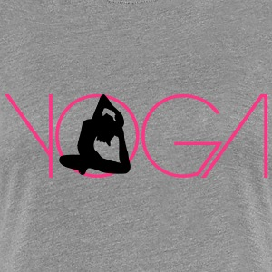 Text woman logo Yoga exercise T-Shirts - Women's Premium T-Shirt