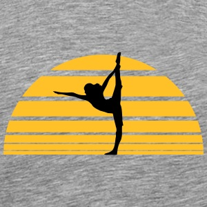 Yoga sunset sun T-Shirts - Men's Premium T-Shirt