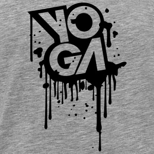 Cool Yoga Graffiti Logo Design T-Shirts - Men's Premium T-Shirt