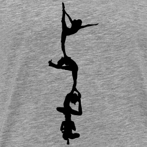 4 vrouwen Yoga Tower T-shirts - Mannen Premium T-shirt