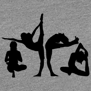 4 women in yoga exercise T-Shirts - Women's Premium T-Shirt