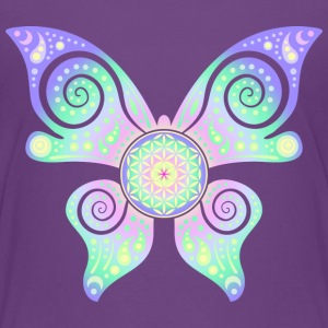 Flower Of Life - Butterfly - Teenager Premium T-Shirt