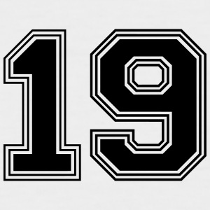 19_number_19_(s31) T-Shirts - Men's Baseball T-Shirt