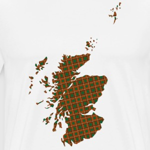 Scotland in check pattern T-Shirts - Men's Premium T-Shirt
