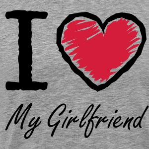 I love my girlfriend - Männer Premium T-Shirt