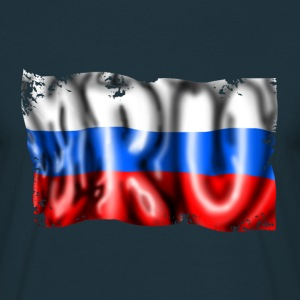 drapeau russe Tee shirts - T-shirt Homme