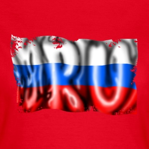 Russian flag T-skjorter - T-skjorte for kvinner