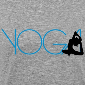 Text Yoga woman exercise Logo T-Shirts - Men's Premium T-Shirt