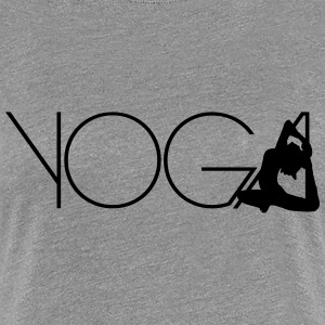 Text Yoga woman exercise Logo T-Shirts - Women's Premium T-Shirt
