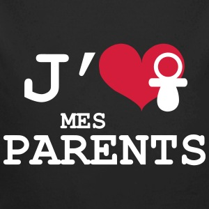 J'aime mes Parents Sweats - Body bébé bio manches longues