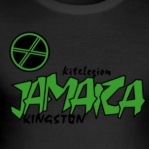 kl_vec_2c_png_jamaica_kingston T-Shirts - Men's Slim Fit T-Shirt