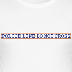 police_line_vec_1 en T-Shirts - Men's Slim Fit T-Shirt