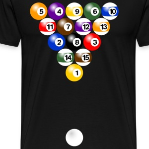 Billiard balls formation T-Shirts - Men's Premium T-Shirt