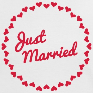 Just Married Heart Badge1 T-Shirts - Women's Ringer T-Shirt