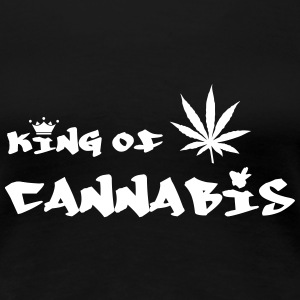 King of Cannabis T-shirts - Dame premium T-shirt