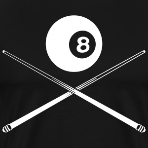 black billiard ball with cue T-Shirts - Men's Premium T-Shirt