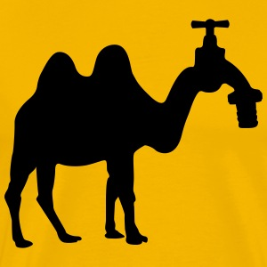 Camel with faucet head T-Shirts - Men's Premium T-Shirt
