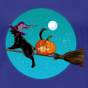 Halloween Witch Cat T-Shirts - Women's Premium T-Shirt