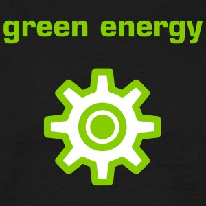 Green energy black t-shirt - Men's T-Shirt