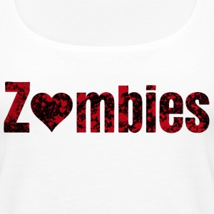zombies zombier Topper - Premium singlet for kvinner