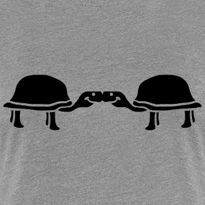 Pair 2 turtles love kiss T-Shirts - Women's Premium T-Shirt