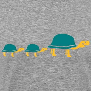 Cute sweet little turtle family T-Shirts - Men's Premium T-Shirt
